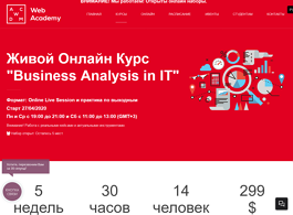 Онлайн-курс Business Analysis in IT (Web Academy)